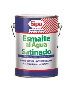 Esmalte Al Agua Sipa Satinado Blanco Galon