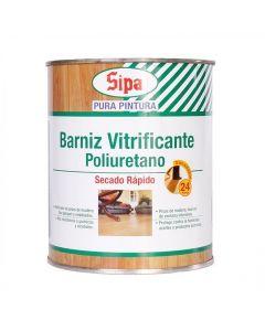 BARNIZ VITRIFICANTE SIPA C/POLIU. SEMI-BRILL 1/4GL