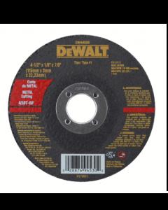 "DISCO CORTE INOXIDABLE DEWALT DW44530 4,5"" X 3 MM"