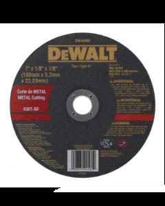 "DISCO CORTE INOXIDABLE DEWALT DW44560 7"" X 3.2MM"