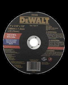 "DISCO CORTE INOXIDABLE DEWALT DW44602 7"" X 1.6MM"