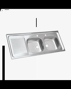Lavaplatos Splendid 0,50x1,20 Mts. 2c-1e Derecho